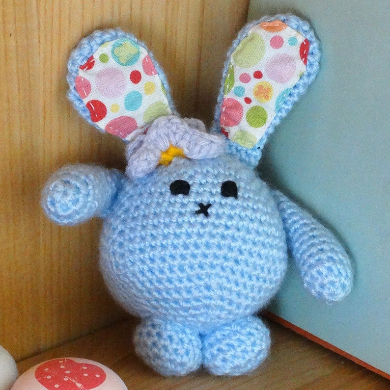 Bunny Toy Easter Bunny Crochet Bunny Christening Gift Rabbit Blue Bubble Bunny Baby Gift Amigurumi Crochet Bunny Amigurumi Bunny
