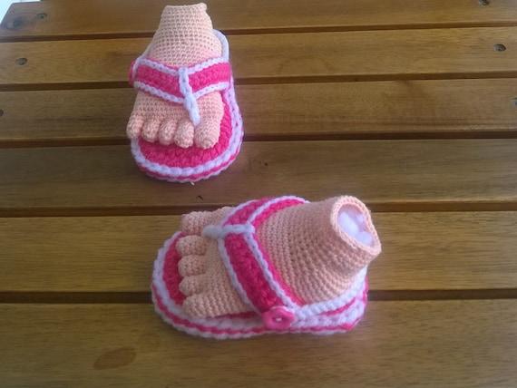 Pdf Crochet Baby Sandal Pattern 203 Pdf Instant Download Etsy