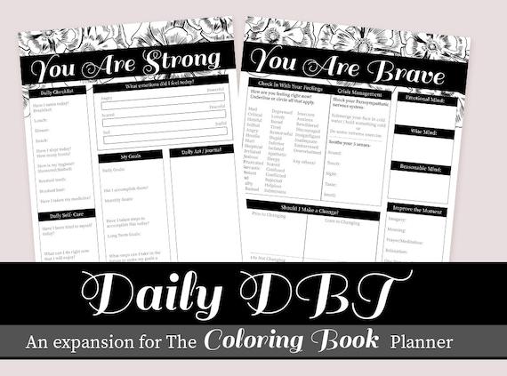 DBT Tagesplaner hinzufügen auf Expansion Therapie und selbst | Etsy