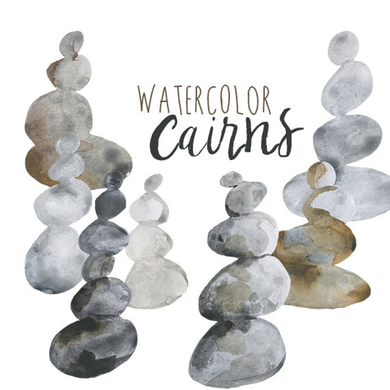 Watercolor Cairns clip art, Cairn clipart, stacked rocks clipart, Natural  illustrations, nordic clipart, ancient spirituality, mythological