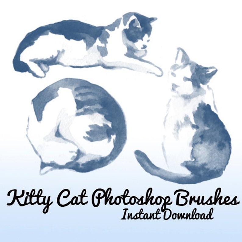 7 Kitty Cat Photoshop Brushes Cats Photoshop Brush Pets Cute Etsy
