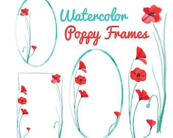 Watercolor Floral Clipart INSTANT Download Digital Clip Art Flower Clipart Flowers Watercolors Commercial Use Scrapbooking Floral Clip Art