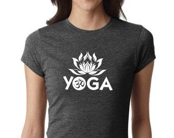 Yoga Shirt, Yoga Lotus shirt, Yoga Top, Yoga Tank, Om Shirt, Namaste Shirt, yoga top, Meditation Shirt, Ladies Shirt, YOGA TSHIRT, #LS2