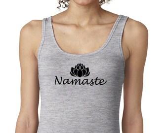 yoga tank top, Namaste tank, namaste tank top, yoga shirt, yoga top, yoga t-shirt, namaste top, yoga Tee, yoga clothing, yoga tank,  #LT30