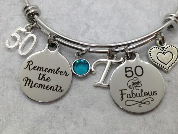 60th BIRTHDAY Gift For Her Milestone Birthday Gifts Friends 60 And Fabulous Bracelet