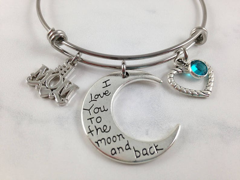 Mom Bracelet Mothers Day Gift Birthday I Love You