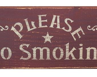 Please No Smoking Shelf Sitter sign