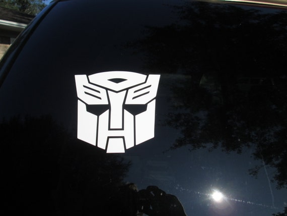 transformers autobot symbol decal sticker several sizes and etsy