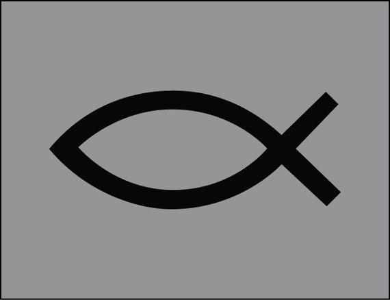 Jesús Peces Cristiano Religiosas Iglesia Dios Símbolo Vinilo Calcomanía Adhesivo Varios Tamaños Y Colores Para Elegir