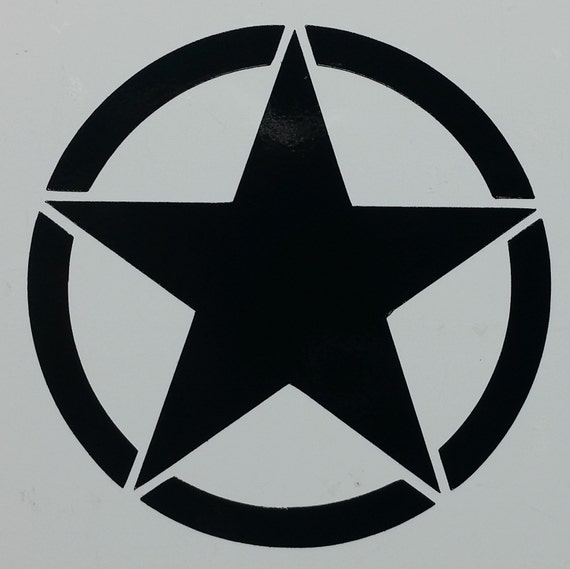 Military Star Symbol Decal Sticker Several Sizes And Colors Etsy