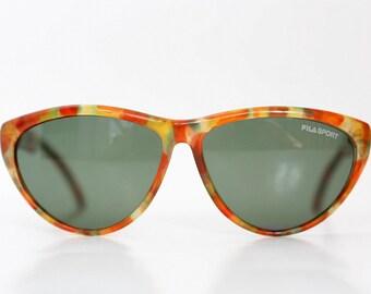 NOS Fila Sport tortoise sunglasses / Vintage Unisex shades / Deadstock sunnies / Vintage eyewear / 80s New