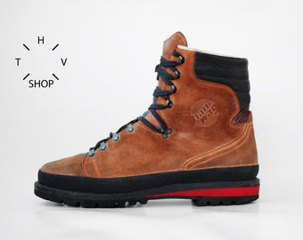 9be68c4e1e8c1 Vintage HANWAG Han Wag trekking hiking boots   Mountaineering full suede leather  shoes   Mens Trail Travel retro   made in Germany 90s