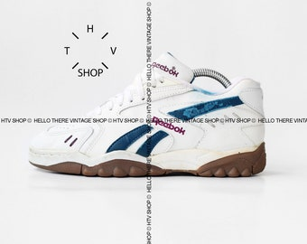b3a1462176 NOS vintage Reebok Handball Volleyball Indoor sneakers / Unisex White Gum  sole shoes / Deadstock OG Original trainers made in Indonesia 90s