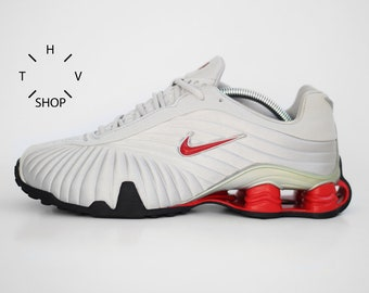 watch 54480 75d2a NOS Nike Shox Propulsion R4 vintage sneaker   Turbo kicks mens Unisex    Metallic Silver Red shoes trainers   Nike Running   made in Vietnam