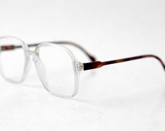 44f0e97cd6 NOS NEOSTYLE Cockpit vintage eyeglasses   Translucent Tortoise Optical  Glasses   Nerd Oversized Spectacles Frames   made in Germany 80s
