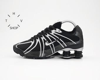 NOS Nike Shox Turbo OZ   Vintage kicks sneakers Youth Kids Unisex   Black  Metallic Silver shoes trainers   Nike Running   made in Vietnam 5ce773327