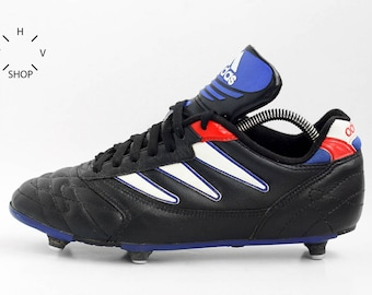 0bfb7f3ee4f Vintage ADIDAS 1995 soccer boots   Adidas soccer football cleats   Leather  Mens Kids metal cleats shoes   Made in Indonesia 90s