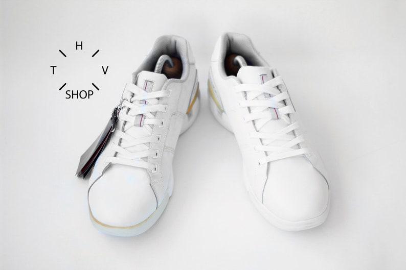 NOS Vintage Kronos Coach low sneakers   Deadstock White  58397466b