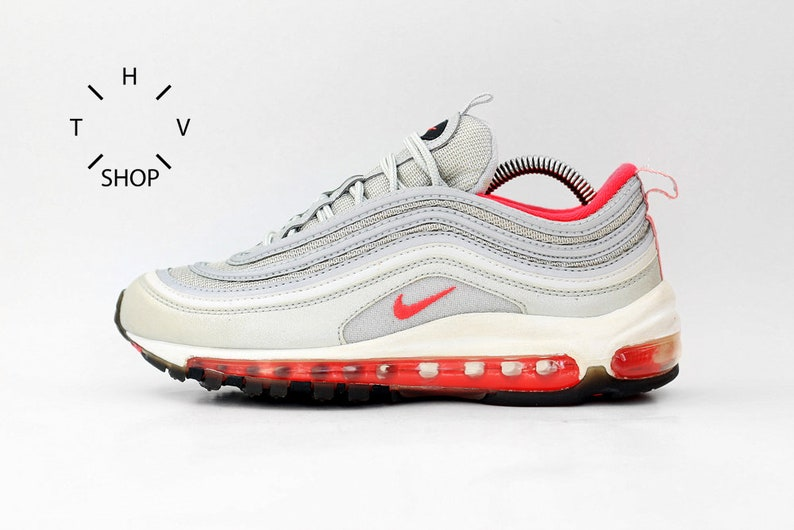 a4b7cb0fdaf Vintage Nike Air Max 97 sneakers   Silver Bullet Pink Trainers   Deadstock Athletic  Shoes   Womens Kids sneakers kicks   OG 90s