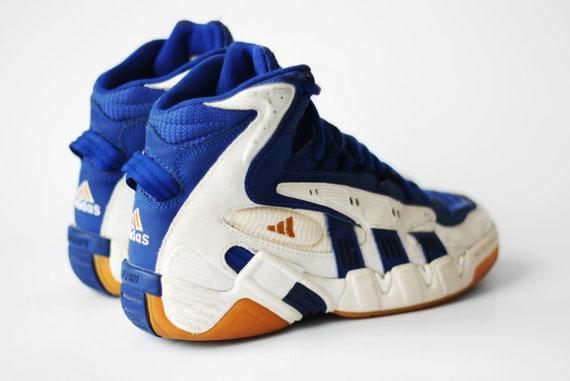 1999 vintage Adidas Equipment EQT Allround hi tops shoes Basketball Bball Torsion AdiPrene sneakers Oldschool Retro kicks footwear 90s