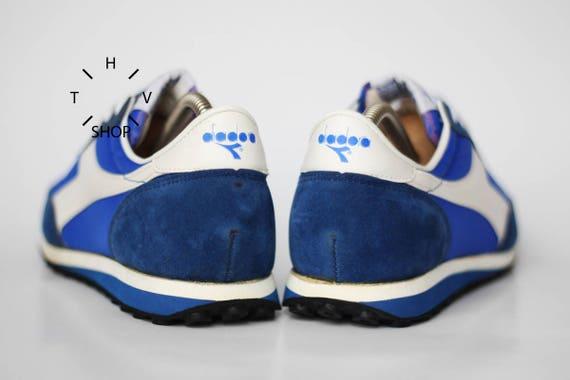 Weiß Nos Hergestellt Joggen Blau Vintage Jahre Trainer In Tritte Italien Diadora Turnschuhe Orion Deadstock 80er Läuft srdthQ