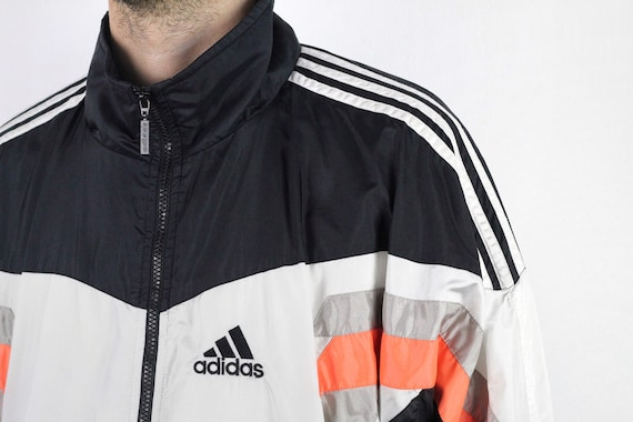 ADIDAS VINTAGE SHELL Suit Tracksuit Top Jacket White, Grey