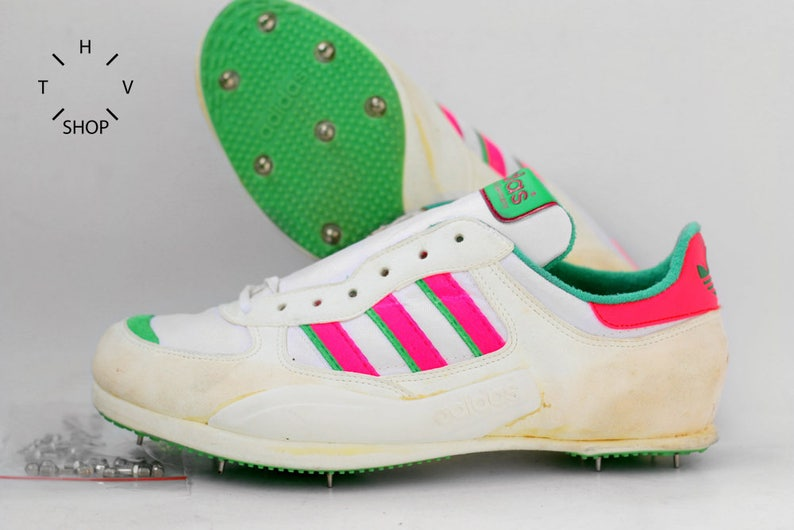 1d67c06fe75ae NOS Deadstock adidas Hochsprung High Jump spikes shoes / Vintage Track  Field Spikes / Retro Sport shoes sneakers / Made in West Germany 80s