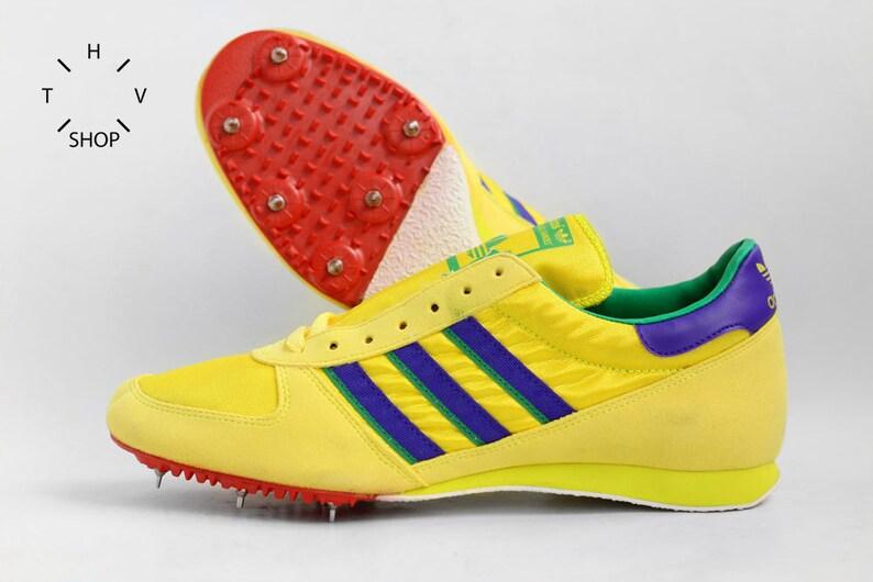 In Originals Made Gewinnen Neon Turnschuhe Trainer Frankreich Vintage 70er Schuhe Feld Spitzen Jahre Sport Deadstock Track Adidas Og Nos OTuXikZP