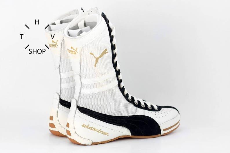 huge discount 5d231 83904 NOS Puma Schattenboxen hi tops boots   OG Deadstock Trainers   Etsy