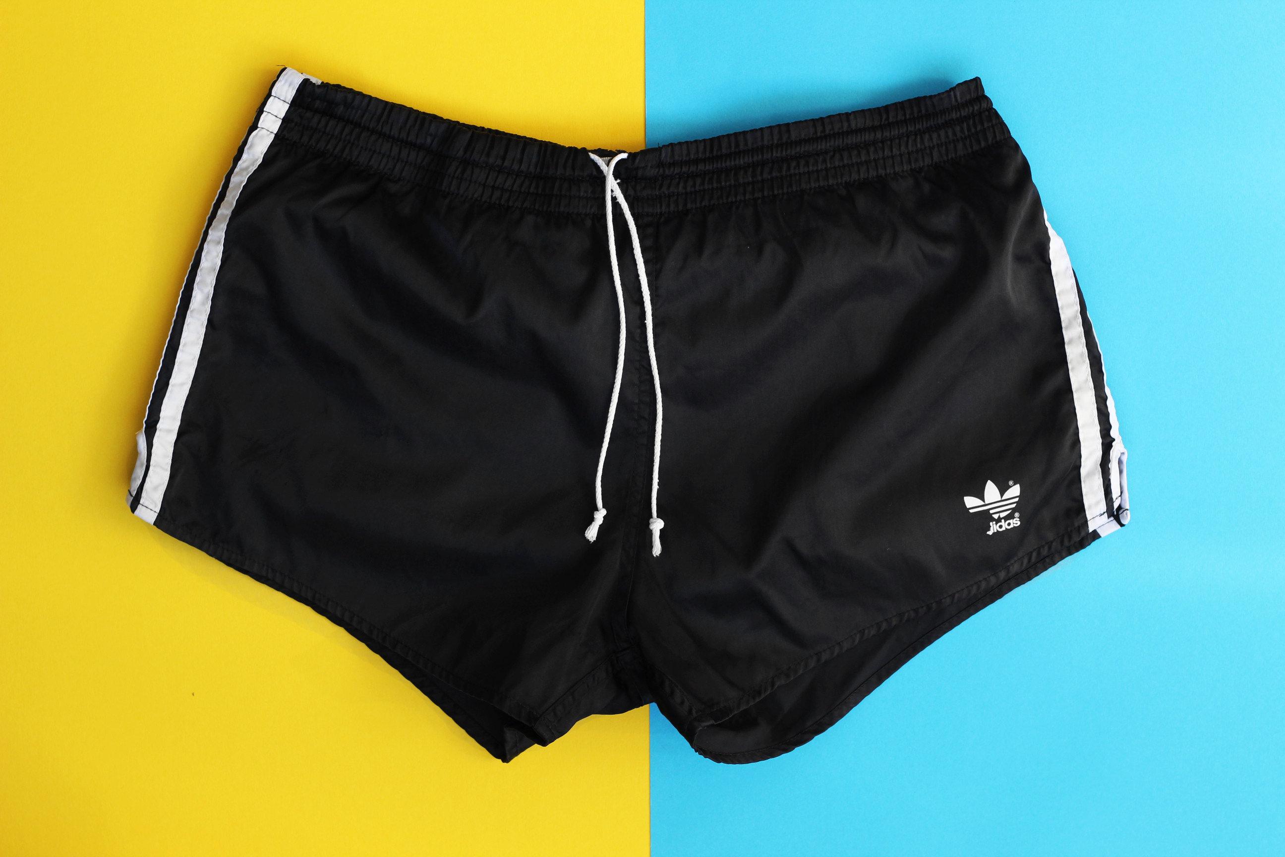 80s Adidas Sports 90s Jogging Nylon Beckenbauer Swim Summer Originals Soccer Vintage Black Running Gym Retro Unisex Workout M Shorts 34 srhQdxtC