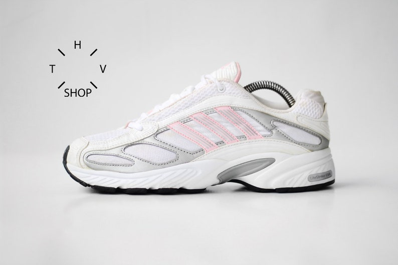 7370d5996c7c Vintage adidas EQT Running sneakers   White Silver Pink kicks