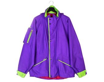 80s GORE-TEX vintage waterproof jacket / 90s GoreTex rad light rain jacket / GTX outdoor jacket / large Xlarge men's