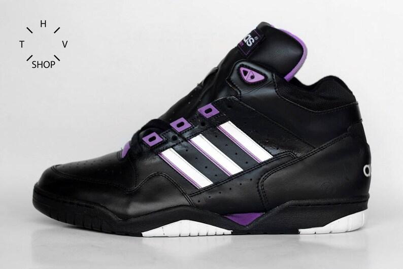 b9fcaccdf2 NOS 1992 Vintage Adidas Century sneakers   Black white