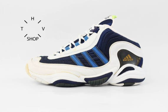 brand new 22e33 646c5 NOS 1998 Adidas Equipment Fix Fitness sneakers / Deadstock Unisex Trainers  / EQT Feet You Wear basketball kicks hi tops / Made in China 90s