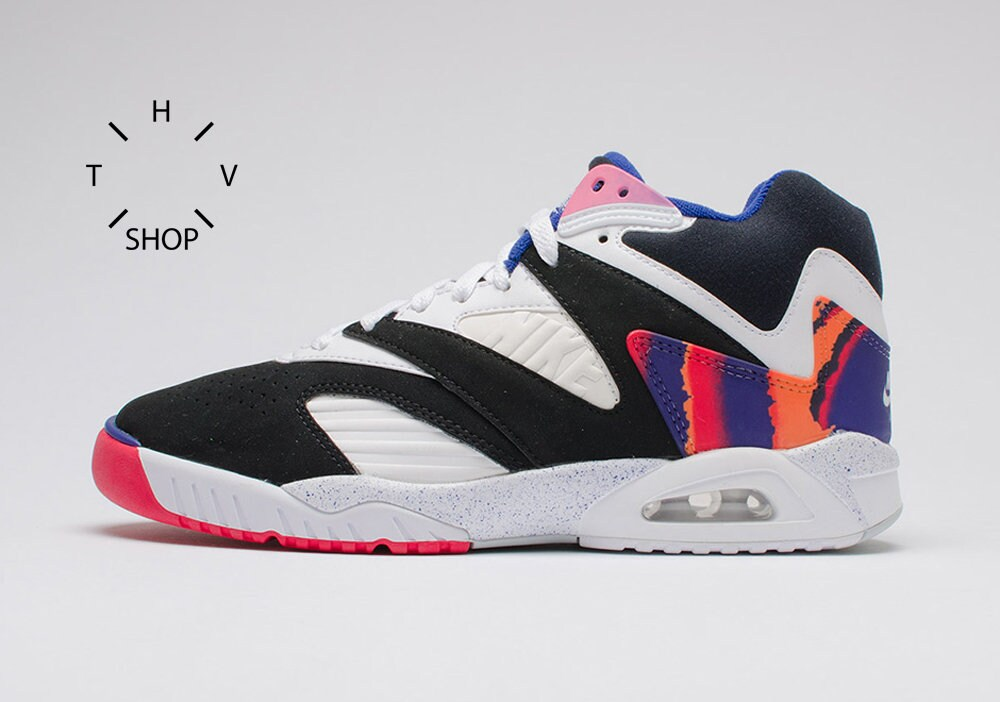 premium selection b0e5d eb44c Vintage Nike Air Tech Challenge IV sneakers  Hi Tops Andre Agassi kicks   Tennis court Hot Lava Dark Grape Cerise Shoes Trainers ...