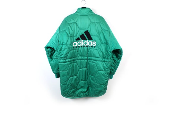 90s adidas EQUIPMENT vintage quilt padded jacket /