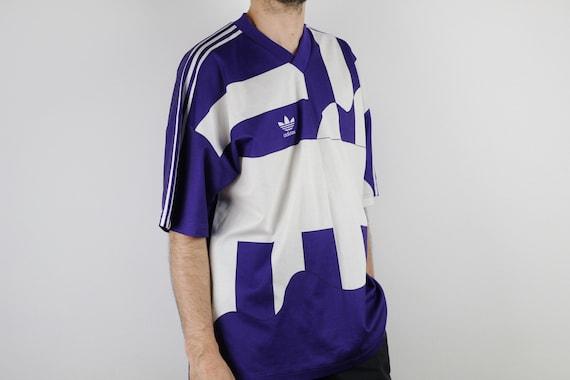 Vintage Adidas Originals SGP t shirt soccer Retro purple tshirt Oldschool trefoil jersey Sports Old school tee shirt West Germany 80s