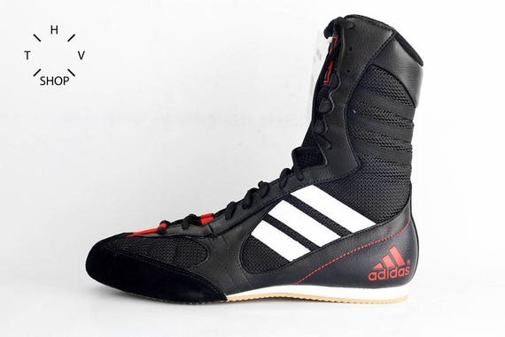 superior quality best online 50% off NOS Adidas Tygun boots / OG Deadstock Trainers Sneakers / Black White Red  vintage kicks / Lightweight Boxing Wrestling Combats MMA shoes