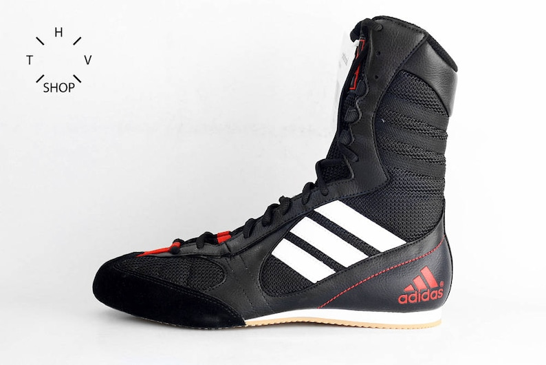 NOS Adidas Tygun boots OG Deadstock Trainers Sneakers Black White Red vintage kicks Lightweight Boxing Wrestling Combats MMA shoes