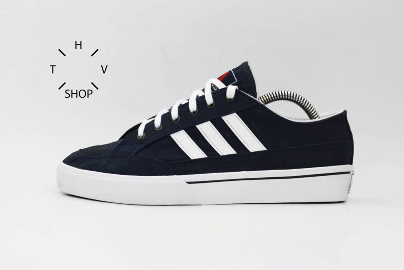 huge discount 90e40 0d11f NOS 1997 Vintage Adidas Equipment ST Kilda canvas sneakers / Nizza Cannes  Tennis low trainers / Retro Oldschool Athletic Shoes Kicks / 90s