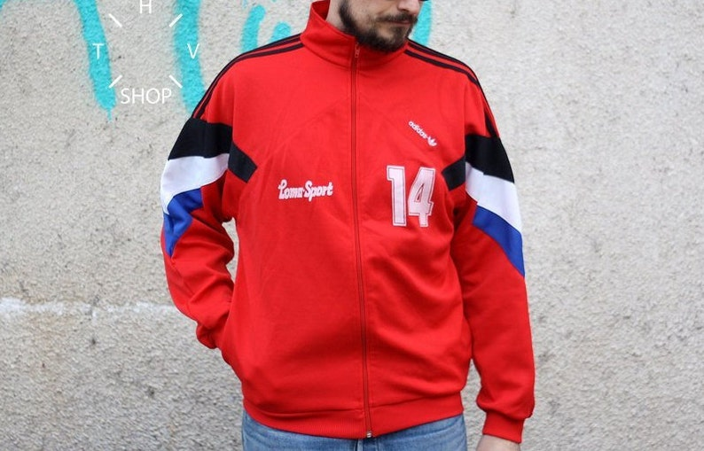 d40105e5b4df Vintage Adidas Originals track top   Unisex front zip jacket