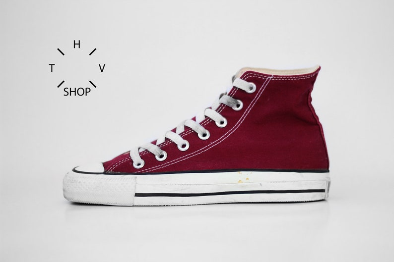 9c176acfd7afa4 Vintage Converse Chuck Taylor All Star sneakers   Burgundy