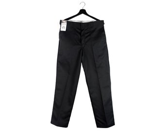 Y2k Dickies 874 Original Fit work pants / Skater streetwear unisex black trousers / W34 L30 M men's XL 16 18 US women's