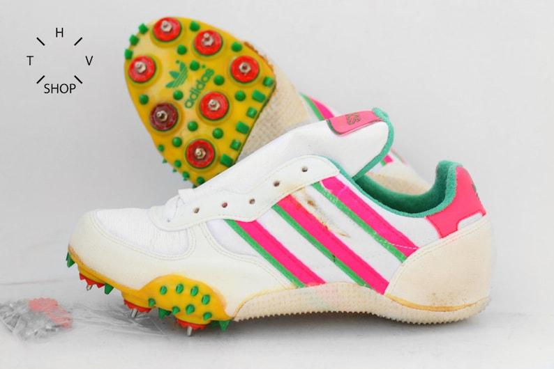 9ab00db57 NOS Adidas Adistar Sprint shoes / Vintage Track Field Spikes / | Etsy
