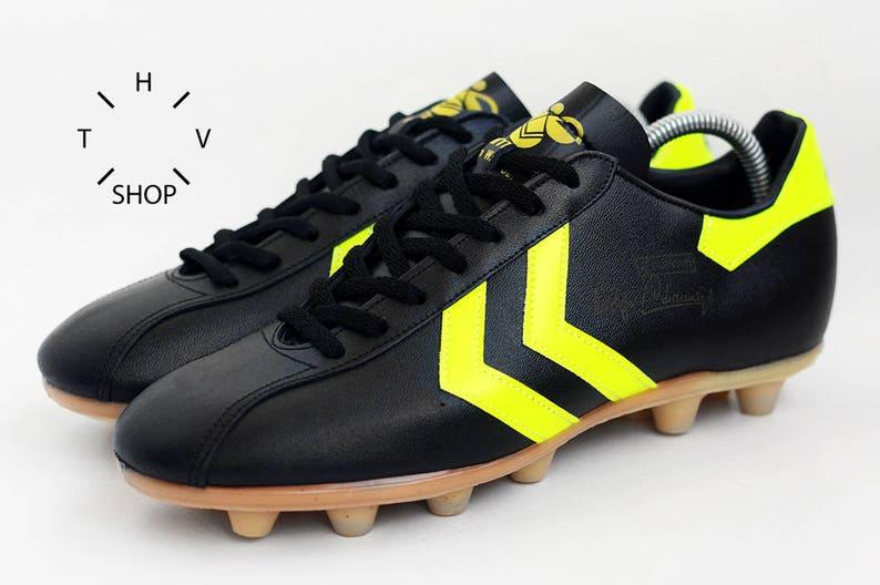 d12c84b68 NOS Vintage HUMMEL Rudiger Abramczik Soccer boots   Black