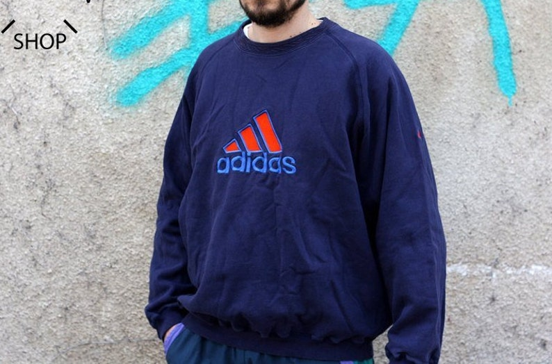 L Jumper Crewneck Sweater Adidas Made Shirt 90s Vintage Xl Eqt Equipment Sweatshirt In Oldschool Indonesia Pullover Mens Longsleeves yb6vg7Yf