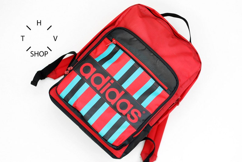NOS Adidas Originals red backpack   Unisex One Size ruckasack  0d2a7ecc27c06