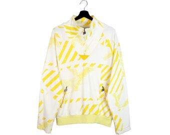 70s vintage KARHU zip sweatshirt / 80s KARHU zip anorak pullover / Finland / Unisex M L men's 2XL women's