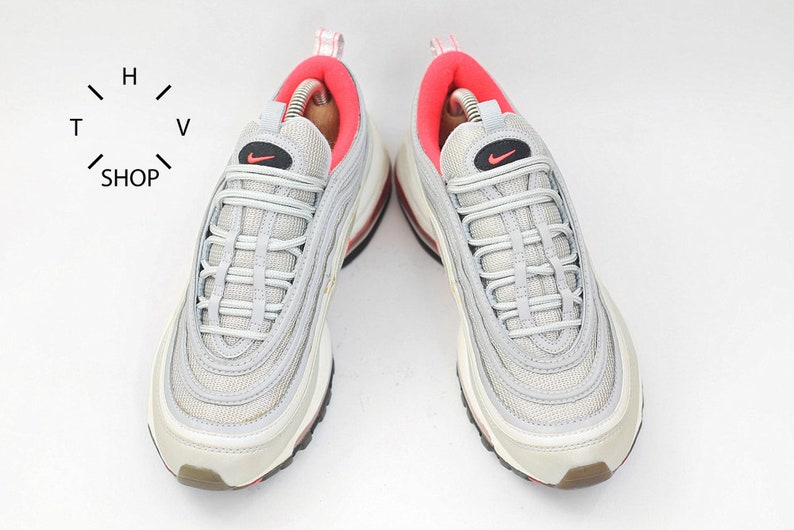 e917a3d31be Vintage Nike Air Max 97 sneakers   Silver Bullet Pink Trainers
