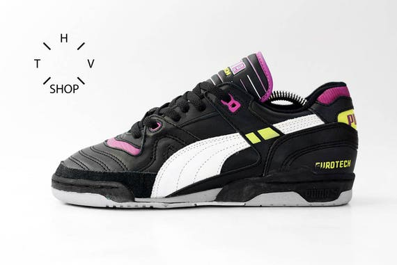 size 40 08618 7eec0 NOS Puma Eurotech Indoor sneakers / Womens Mens vintage trainers /  Deadstock shoes / Oldschool retro kicks / 80s 90s